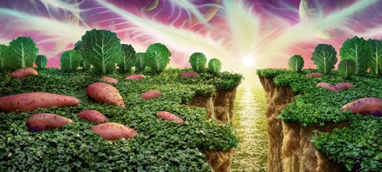 創意攝影,攝影師用蔬菜水果拍攝成風景 - 每日頭條