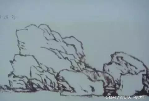 如何畫好國畫山石的。畫法及步驟。愛好畫畫的朋友請收藏 - 每日頭條