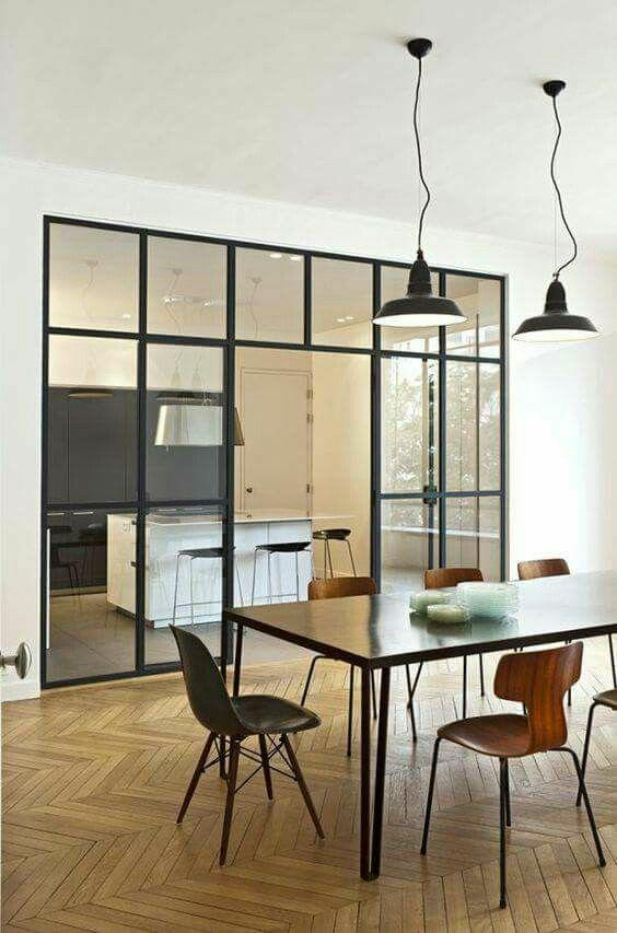 時下流行的廚房推拉門設計。你喜歡哪款? - 每日頭條