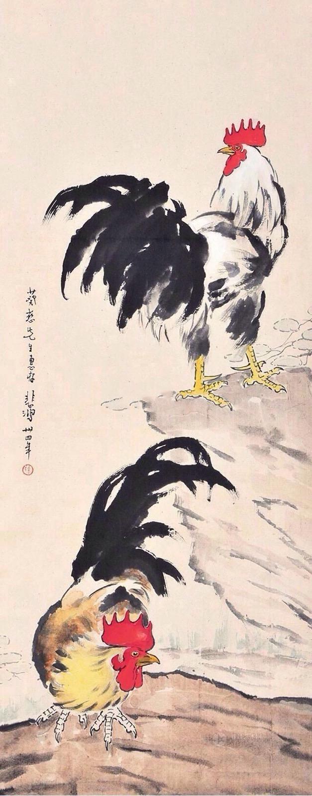 中國畫-徐悲鴻國畫作品欣賞 - 每日頭條