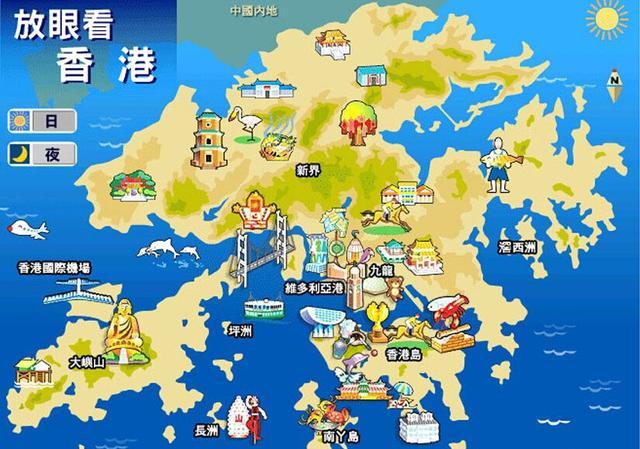 香港旅遊地圖及香港著名景點地圖匯總 - 每日頭條