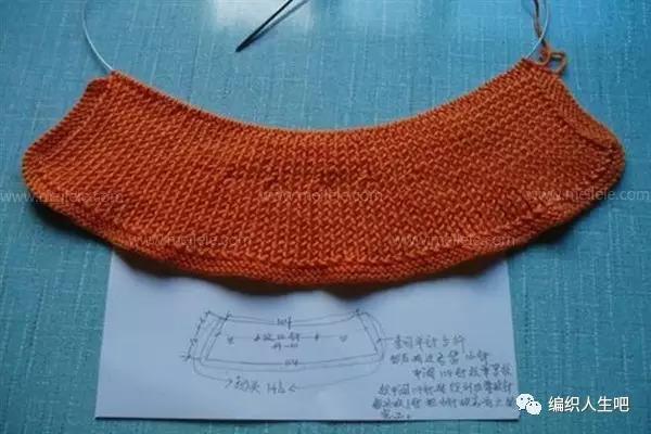 圓領毛衣領子編織方法圖解! - 每日頭條