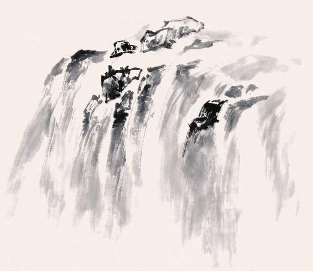中國山水畫零基礎入門:海水皴法和瀑布皴法圖解。簡單易學的國畫 - 每日頭條