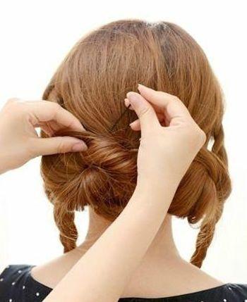 3款自己能做的。最簡單穩重的盤發髮型! - 每日頭條