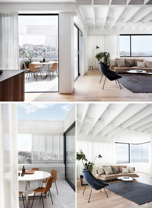build kitchen island target table sets 路易吉罗塞利建筑师在悉尼设计了一个新的混凝土住宅 每日头条 在厨房里 用可选的方式建造的浅蓝色的橱柜已经与重新建造的石台和一个覆盖着垂直木片的小岛结合在一起