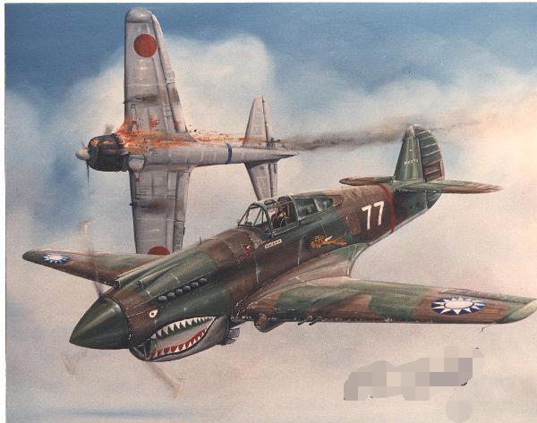 太平洋戰爭中最先擊落日本飛機的美國戰鬥機 鯊魚大嘴和利眼 - 每日頭條