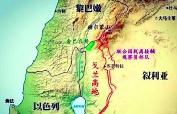 地圖看世界;以色列與敘利亞爭奪「戈蘭高地」 - 每日頭條
