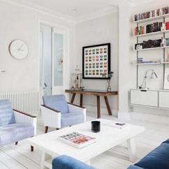 Navy Blue Kitchen Rugs Triple Sink 他们家的蓝色清清爽爽 一点都不忧郁 每日头条 蓝色是忧郁的颜色 来看看英国伦敦这间公寓是如何应用蓝色打造出清爽空间 每个白色空间中 都有一点蓝