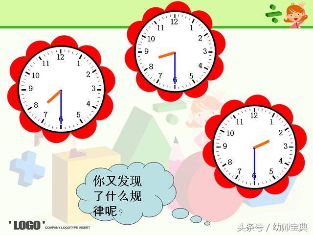 幼兒園:幼小銜接 大班數學教案《認識整點與半點》 - 每日頭條
