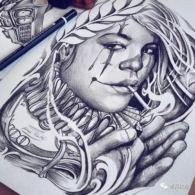 奇卡諾紋身圖案,完美演繹美國西海岸傳統文化! - 每日頭條