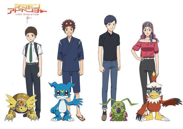 《數碼寶貝大冒險LAST EVOLUTION絆》成年二代主角團人設圖公布 ...