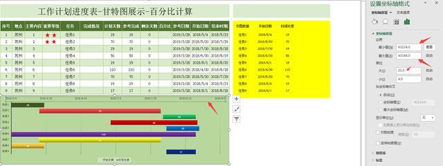 Excel工作計劃進度表,甘特圖展示,百分比計算一步到位 - 每日頭條