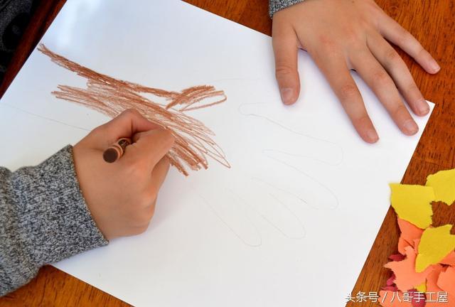 兒童手工----手印秋天的樹 - 每日頭條