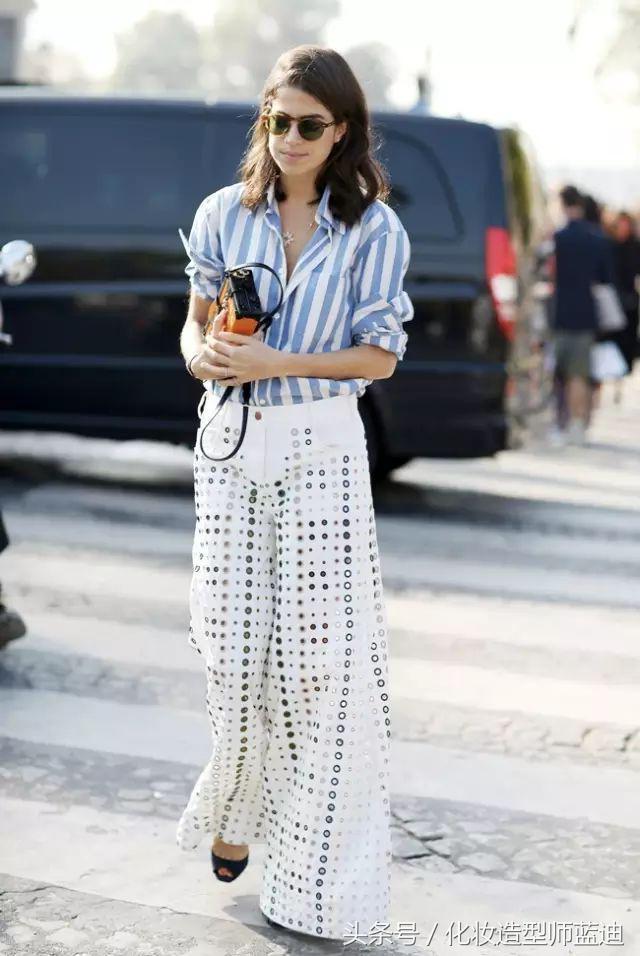 襯衫+闊腿褲。春季也可以搭配這麼多風格?? - 每日頭條