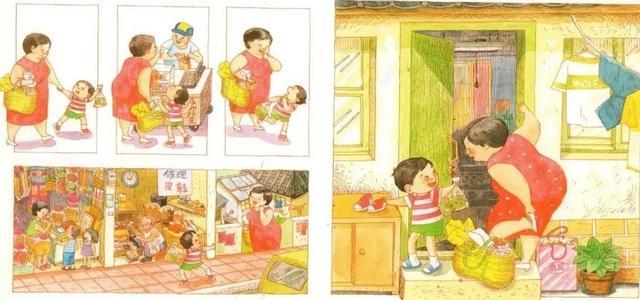 繪本--《媽媽買綠豆》生活場景再現。溫馨而甜蜜。送給獅吼媽媽 - 每日頭條