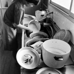 1950s Kitchen Table Tables Set 直击上世纪60年代日本普通家庭主妇的生活 每日头条 60年代的日本家庭 家人们开始就餐 厨房虽小 设备却一应俱全