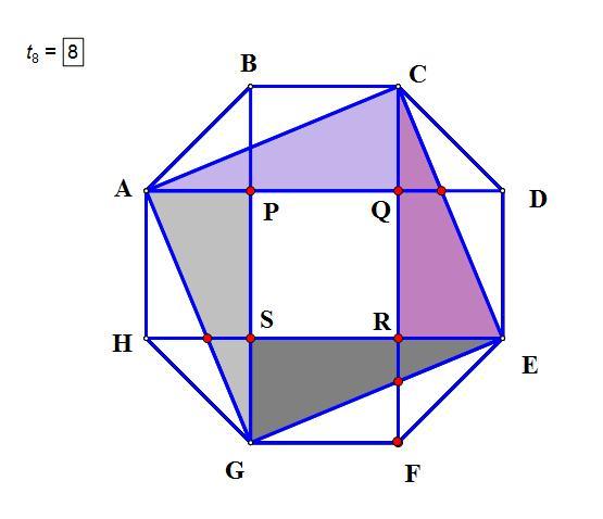 子供向けぬりえ: ぜいたく正八角形 面積 公式