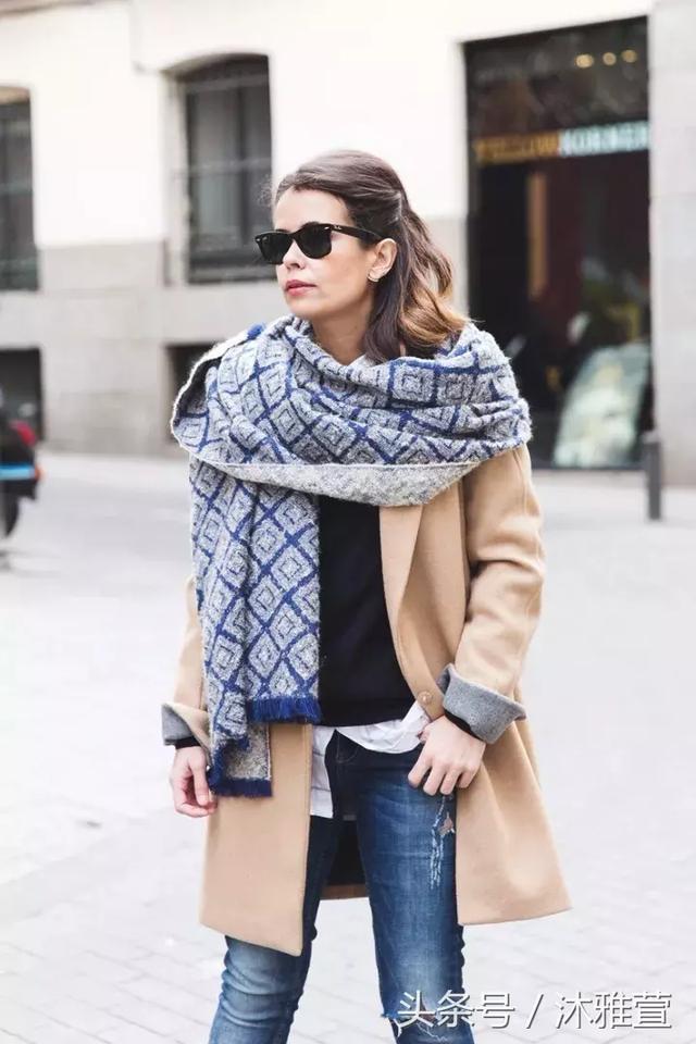大衣這樣搭配圍巾 - 每日頭條