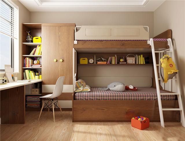 二孩家庭的最佳解決方案。兒童房定製上下床值得一看! - 每日頭條