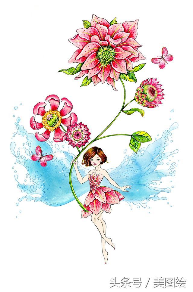 花精靈-洛杉磯Sunny Gu的插畫作品 - 每日頭條
