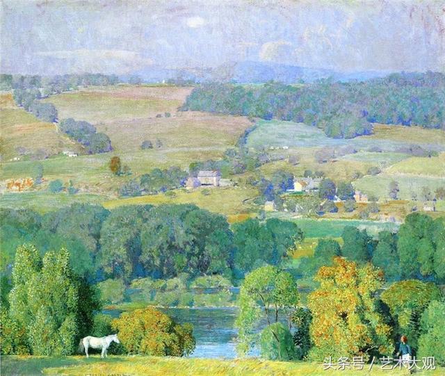 陽光明媚的風景油畫 - 每日頭條
