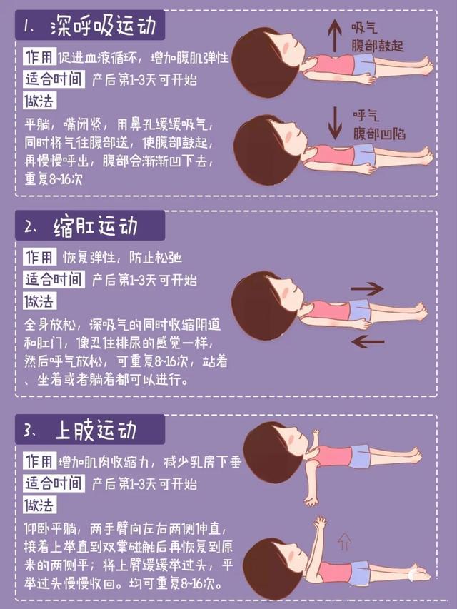 產後恢復必做產褥操動作+月子期可做 - 每日頭條