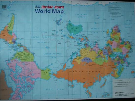換個地圖看世界。世界原來是這樣的 - 每日頭條