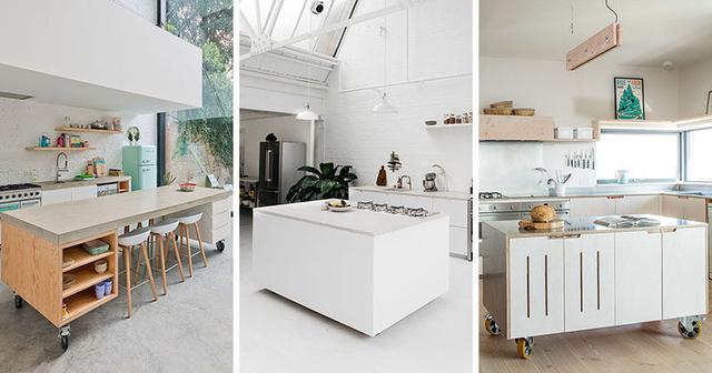 moveable kitchen island design 在厨房做一个移动中岛怎么样 每日头条
