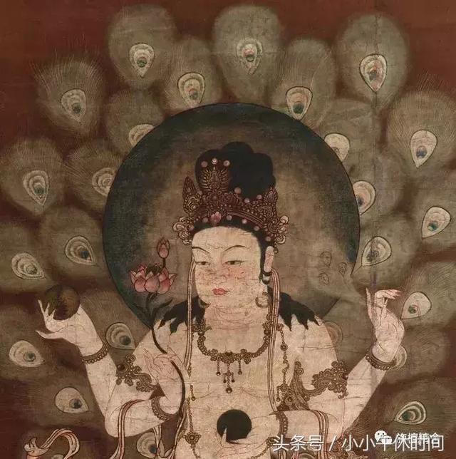 精品佛畫欣賞|14世紀 東密孔雀明王像 - 每日頭條