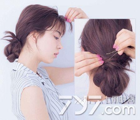 扎什麼頭髮好看又簡單 扎個低髮髻就很不錯 - 每日頭條