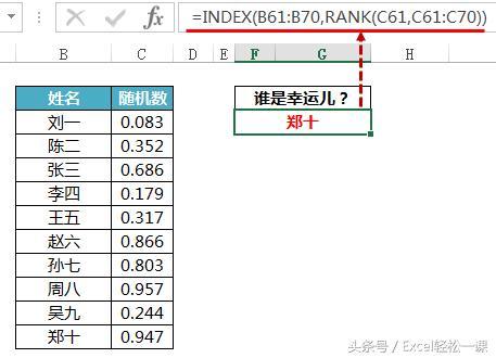 簡單抽獎器製作,Excel函數公式輕鬆幫你搞定! - 每日頭條