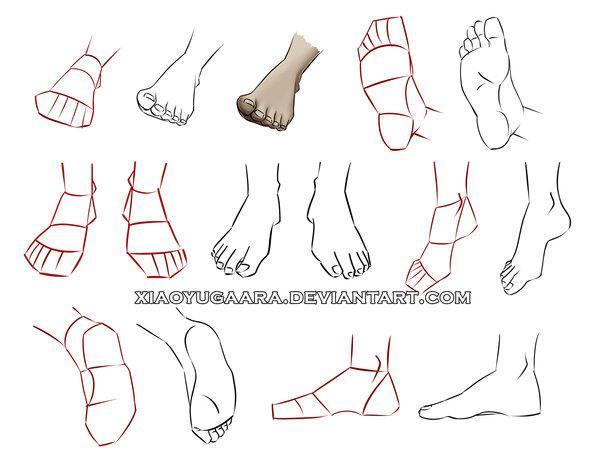 動漫人物的腳怎麼畫?腳的各個角度的不同畫法教程 - 每日頭條