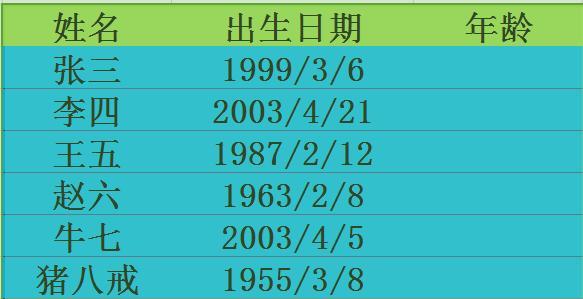EXCEL計算年齡,工齡 - 每日頭條