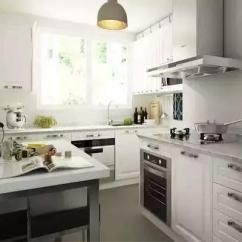 Kitchen Table Storage Granite Countertops Cost 十款餐厨一体设计推荐 既是厨房又是餐厅 每日头条 同样是l型小厨房增加了吊柜设计存储空间更为丰富餐桌装饰和厨房设计浑然一体清新的绿色透露着田园的气息