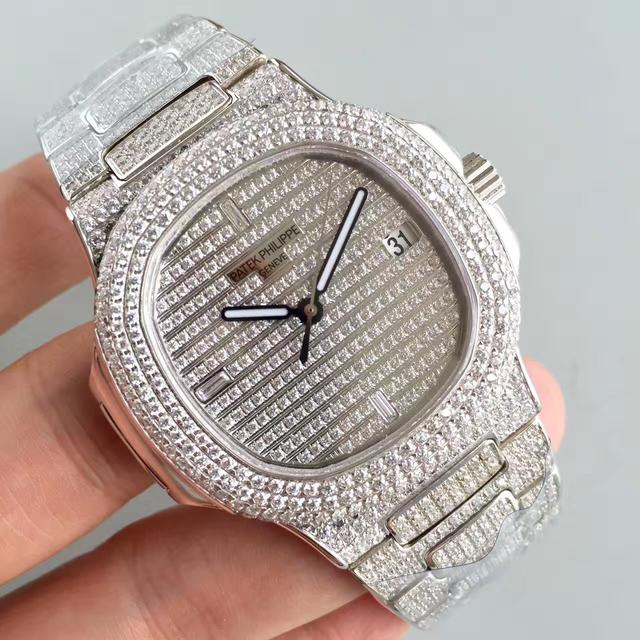 百達翡麗運動系列5719/1G-001滿天星鑽石腕錶 - 每日頭條