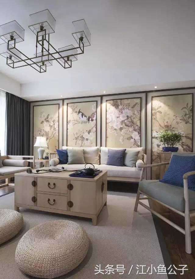128平現代中式三居。在客廳喝點茶特別好! - 每日頭條