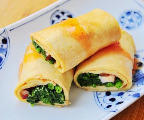 兒童健康早餐食譜:香菇菠菜蛋卷的做法 - 每日頭條
