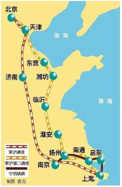 第二條京滬高鐵東營濰坊臨沂淮安揚州南通將發達 - 每日頭條