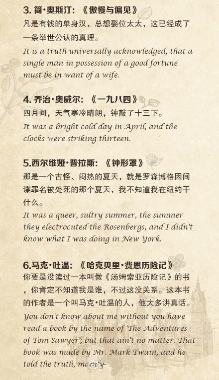 30部文學名著經典開篇的中英文對照(英文王子推薦) - 每日頭條