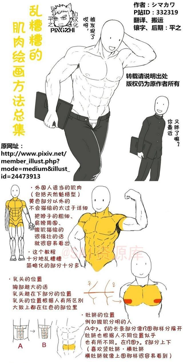 動漫肌肉繪畫方法總集 - 每日頭條