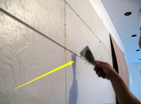 客廳背景牆還在用水泥貼瓷磚?老師傅干掛施工。用多少年都不會掉 - 每日頭條