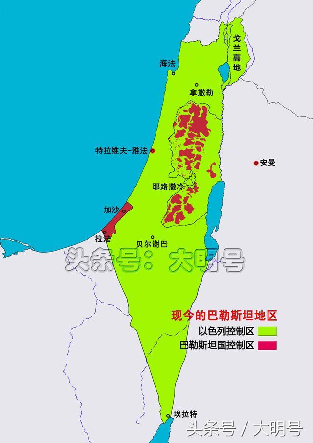 圖說以色列的領土變遷,七十多年的時間裡領土面積幾乎增長了一倍 - 每日頭條