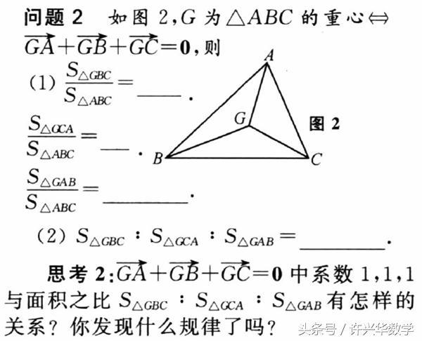 平面向量中的三角形面積之比的解題技巧與方法 - 每日頭條