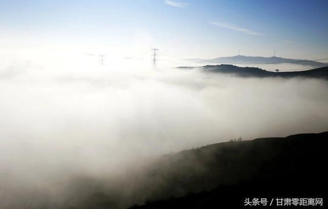 冬日甘肅大山深處的早晨 雲海美景如仙境 - 每日頭條