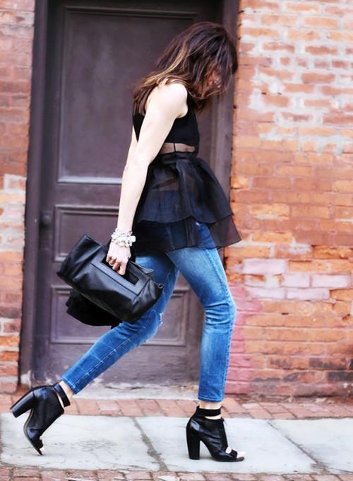 黑色上衣搭配圖片 夏天這麼穿顯瘦又高級 - 每日頭條