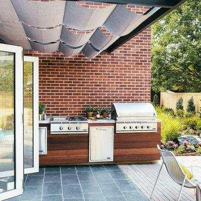 outdoor kitchen single hole faucet with pull out spray 国外10个让人喜欢的创意露天户外厨房 每日头条