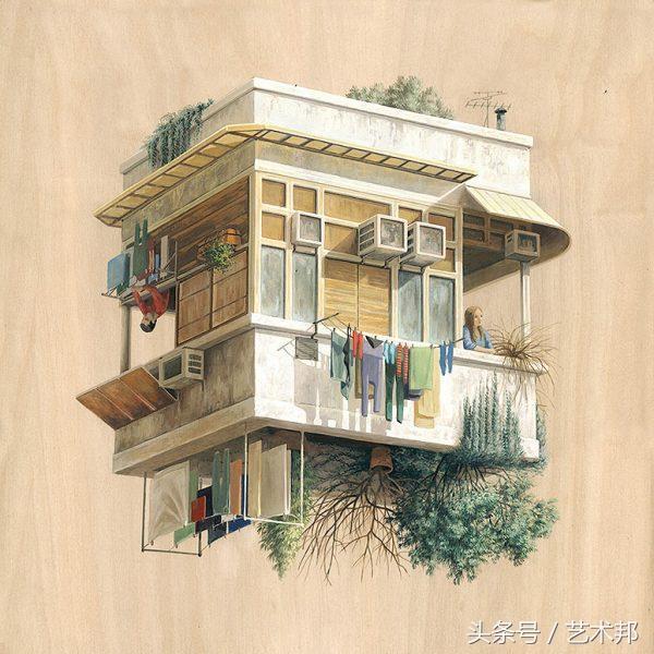 西班牙畫家極富創意的24張矛盾空間建築藝術插畫設計欣賞 - 每日頭條