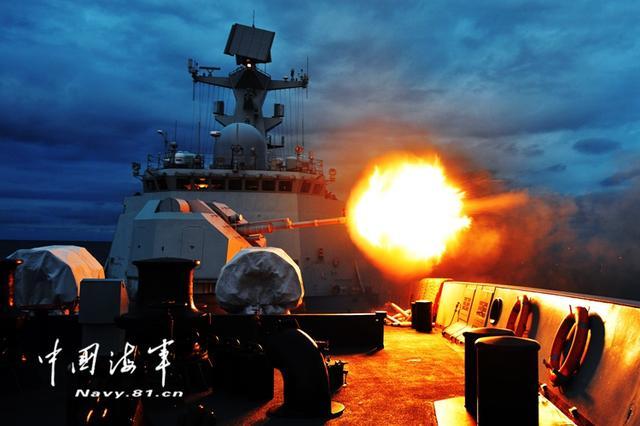 北海艦隊某驅逐艦支隊組織艦艇編隊實彈射擊訓練 - 每日頭條