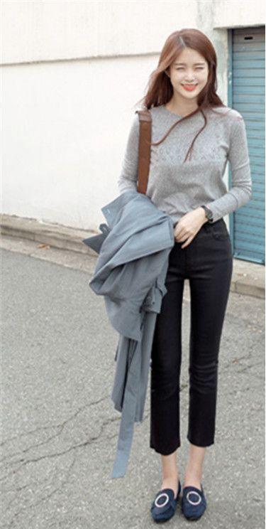 秋天穿九分褲百搭 韓國街拍示範 - 每日頭條