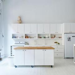 Mobile Island Kitchen Reclaimed Wood Tables 在厨房做一个移动中岛怎么样 每日头条